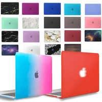 Kk & ll matte casca dura estojo para portátil para apple macbook ar pro retina 11 12 13 15 & novo ar 13/pro 13 15 polegada com barra de toque