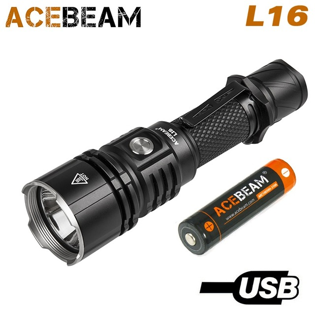 ACEBEAM L16 XHP35 salut lampe 2000 lumens lumière lampe de poche 18650 direct à longue distance lampe de poche