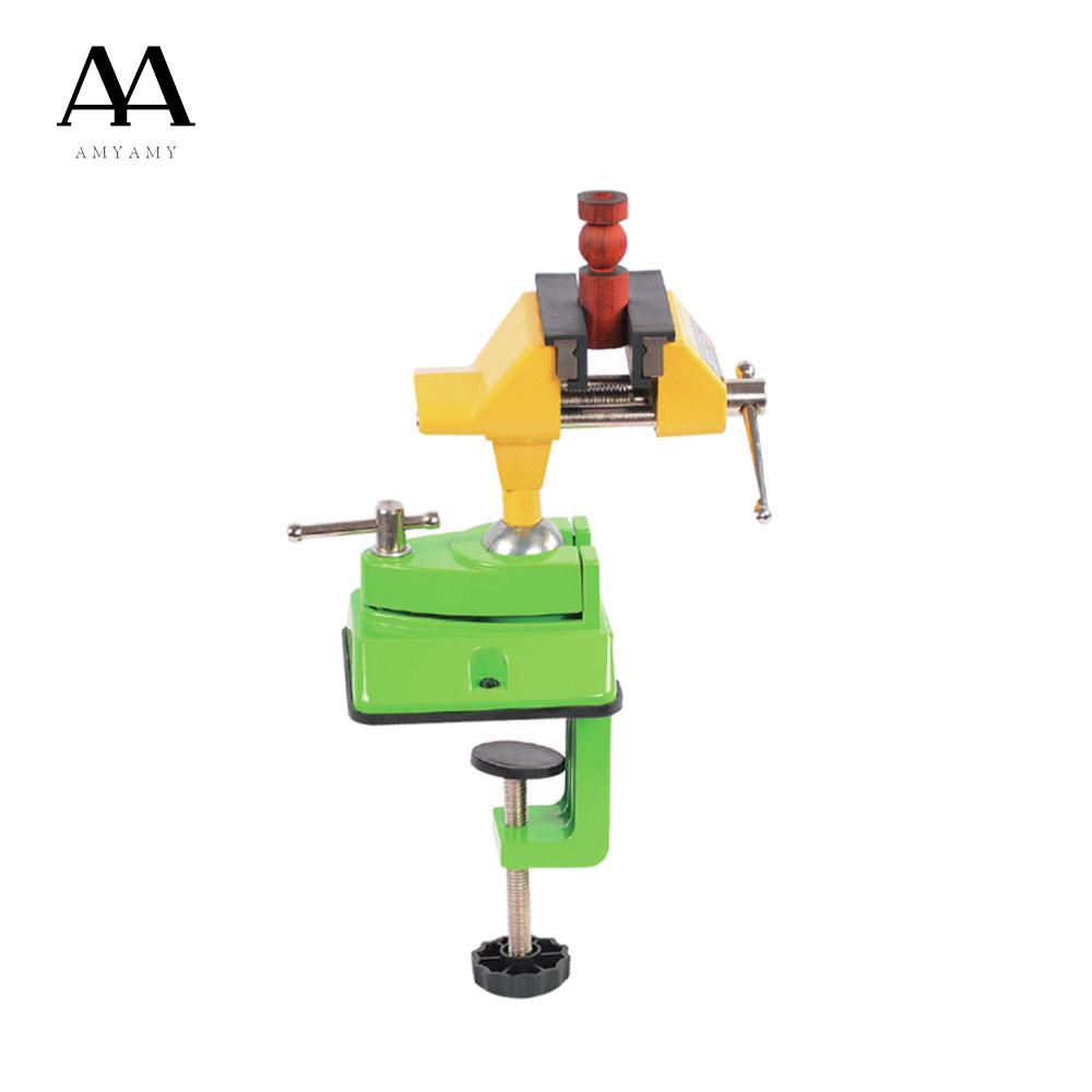 AMYAMY Universal Table Vise 3 inch Jaw Zinc alloy 360 degree Swivel Table Top Vice repair tools цена 2017