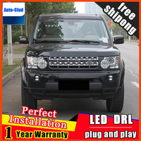Car styling LED fog light for Land Rover Discovery LED Fog lamp with lens and LED daytime running ligh for car 2 function