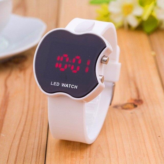 2018 nouvelle montre de sport en Silicone souple femmes série Bracelet LED montre Bracelet électronique bonbons couleurs marque de mode montres 1