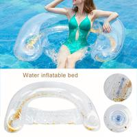 Water Inflatable Bed Beach Swimming Air Mattress Pool Floats Floating Lounge Sleeping Bed For Water Sports Party