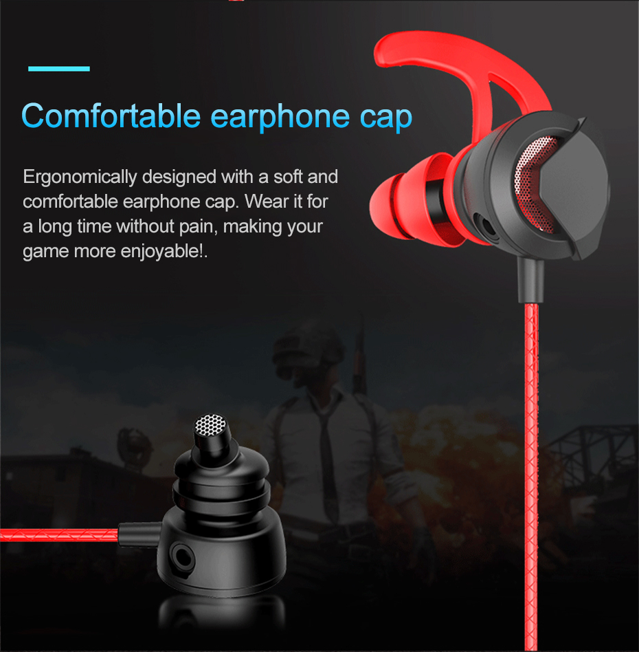 Wired Earphone With Micphone For Computer Mobile Phone Games Wired Headset Hifi Earphone In-ear Earphone Wired Gaming Headset   (5)