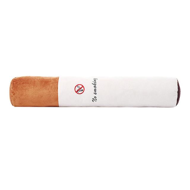 Nuevo Cigarrillo de la Forma Creativa Muñecas de No Fumadores Publicidad Juguetes Celebración Almohada Cojín de Peluche de Juguete Suave Regalo Esposo Novio