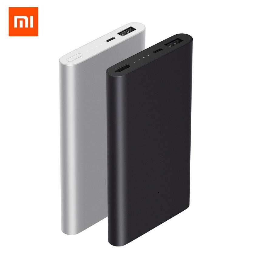 Originais Xiaomi Mi Powerbank Banco De Potência 2 10000 mAh Carga Rápida Rápida e Suporte de Carregamento de Bateria Externa Pacote com Caixa de Cor