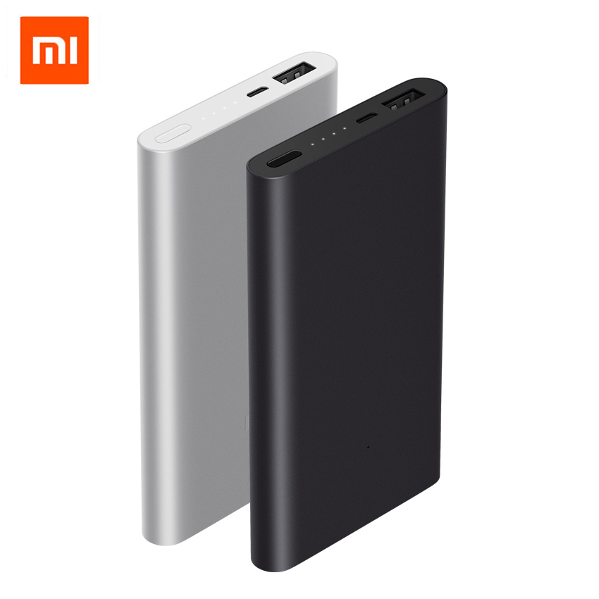 Original Xiaomi Mi Power Bank 2 10000 mAh Quick Charge Powerbank Support Fast Charging External Battery Pack with Color Case