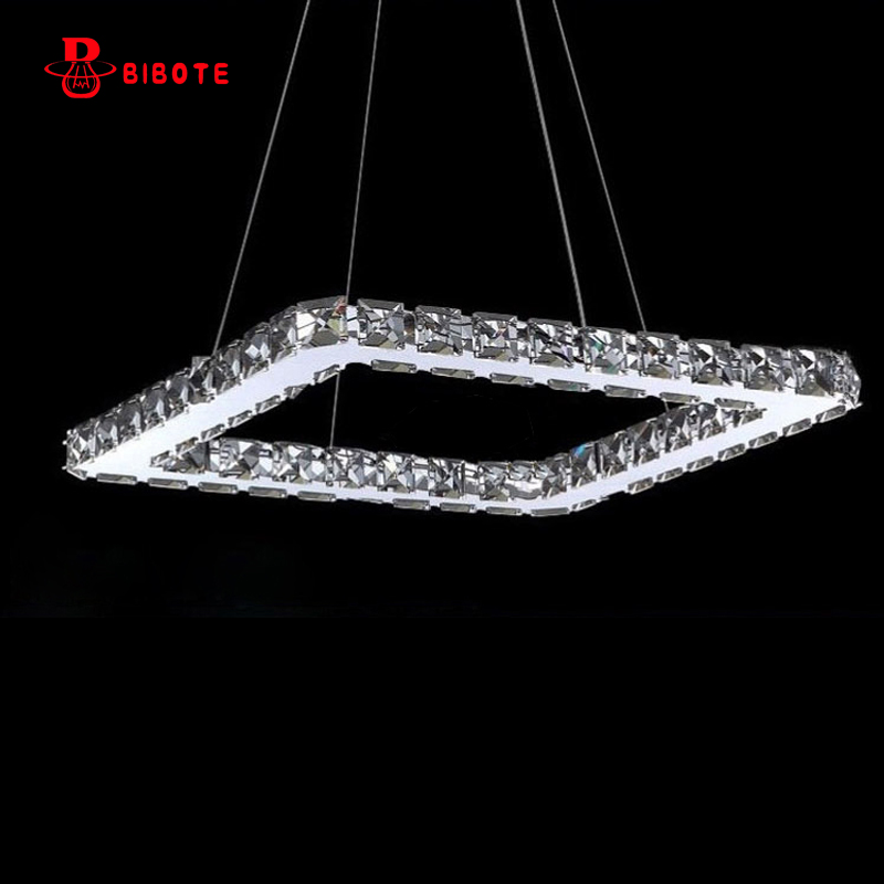 modern stainless steel crystal ring led chandelier lighting lustres with remote control lights for living room chandeliers avize Chandeliers     - title=