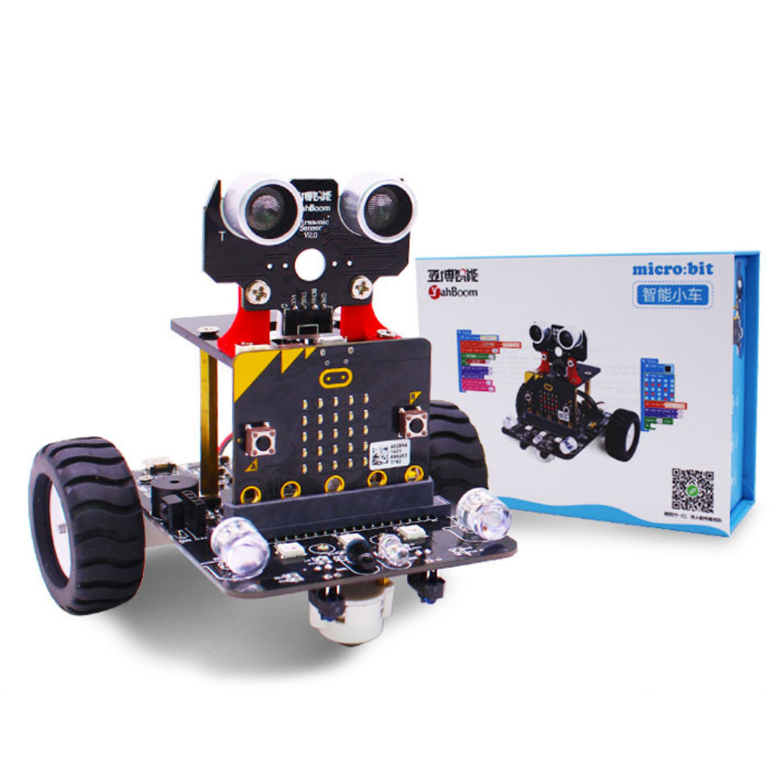 Graphical Programmable Robot Car With Bluetooth IR And Tracking Module Steam Robot Car Toy For Micro:bit BBC (Without Mainboard)