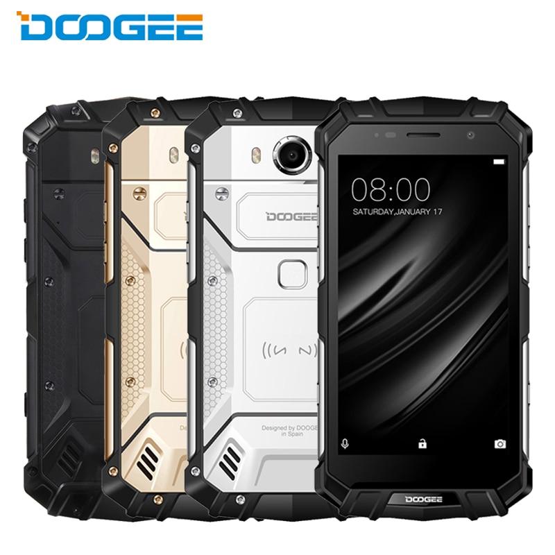Original DOOGEE S60 IP68 Waterproof Cell Phone 5.2inch 6GB RAM 64GB ROM Helio P25 Octa Core Android7.0 5580mAh 21.0MP Smartphone