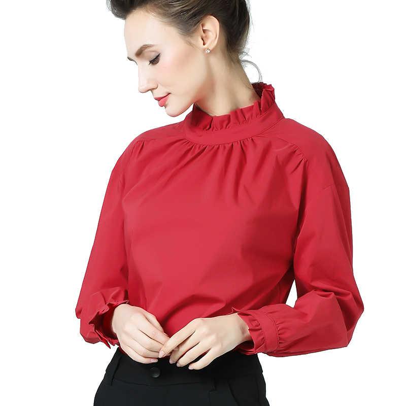 Новая шифоновая рубашка, хлопковая куртка, пуловер, рубашка с воротником, нижняя рубашка, осенняя Женская одежда, Blusas Mujer De Moda, 2018 одежда