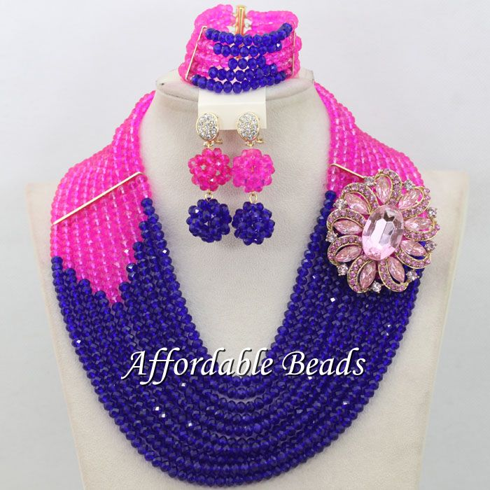 Gray Royal Blue Bridal Wedding Jewelry Set Best Dubai Gold Jewelry ...
