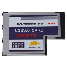 3 Port USB 3.0 Express Card 54mm PCMCIA Express Card for Lap