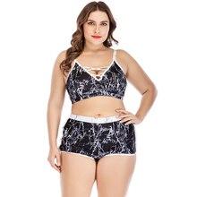 Plus size Bikini Set 2019 Women High Waist Bath Suit 2 Pieces Swimwear Summer Beachwear Brazilian Female Swimsuit Biquini