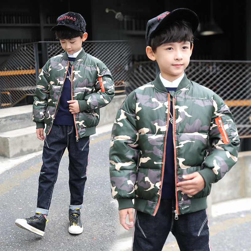 Boy Winter Clothes Children Thickened Camouflage Cotton Padded Jackets Coats Warm Clothing boy winter coats hot sales children clothing thickening hooded cotton jackets fashion warm baby boy coats clothes outerwear kids