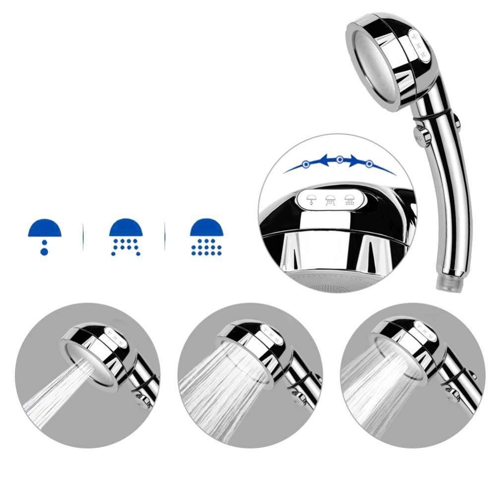 ABS プラスチック節水シャワーヘッドフィルタースパラウンド 3 調節可能なシャワーモード高圧浴室ハンドヘルドシャワー