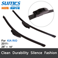 "Wiper blades for KIA Rio (from 2011 onwards) 26""+16"" fit standard J hook wiper arms only HY-002"