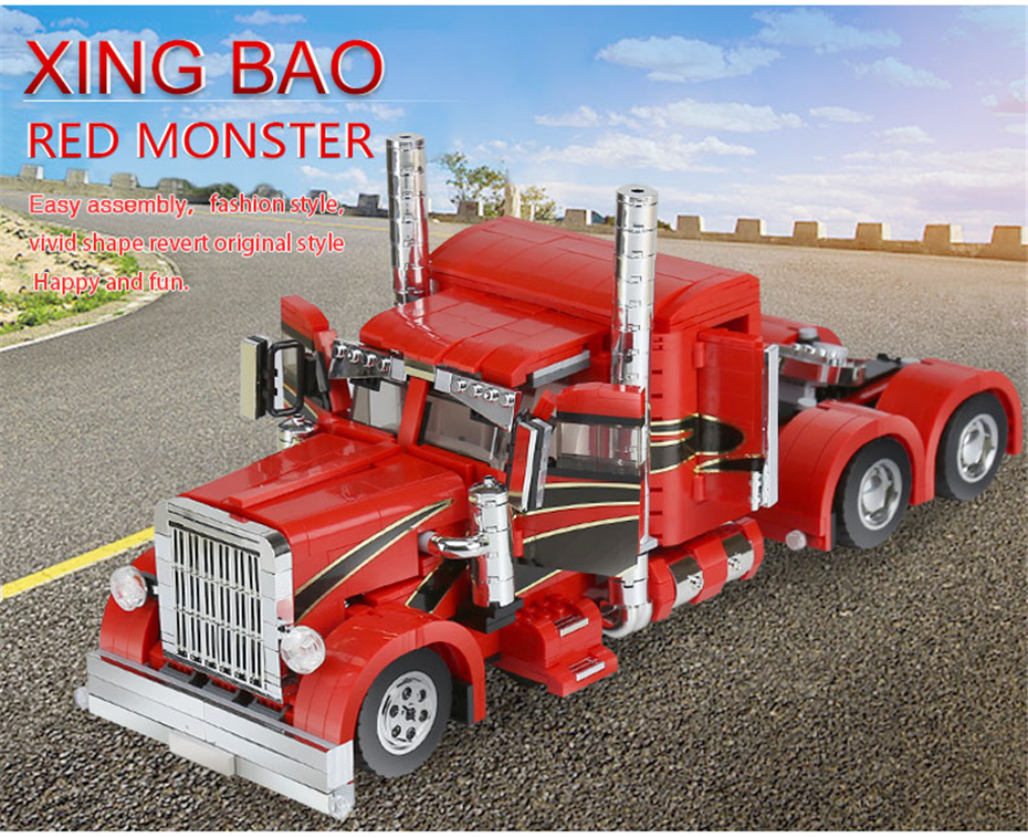 XINGBAO XB-03012 Red Monster Building Block 23