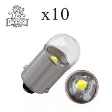10 X BA9S 3030 LED glass heat resistant outer cover T4W bulb width indicator light highlighter holder white 12V 10Pcs