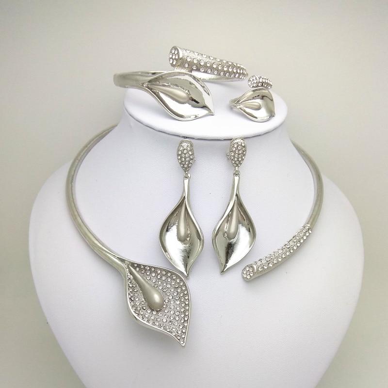Jewelry-Set Kingdom-Ma African-Costume Nigerian Wedding Dubai Silver-Color Women