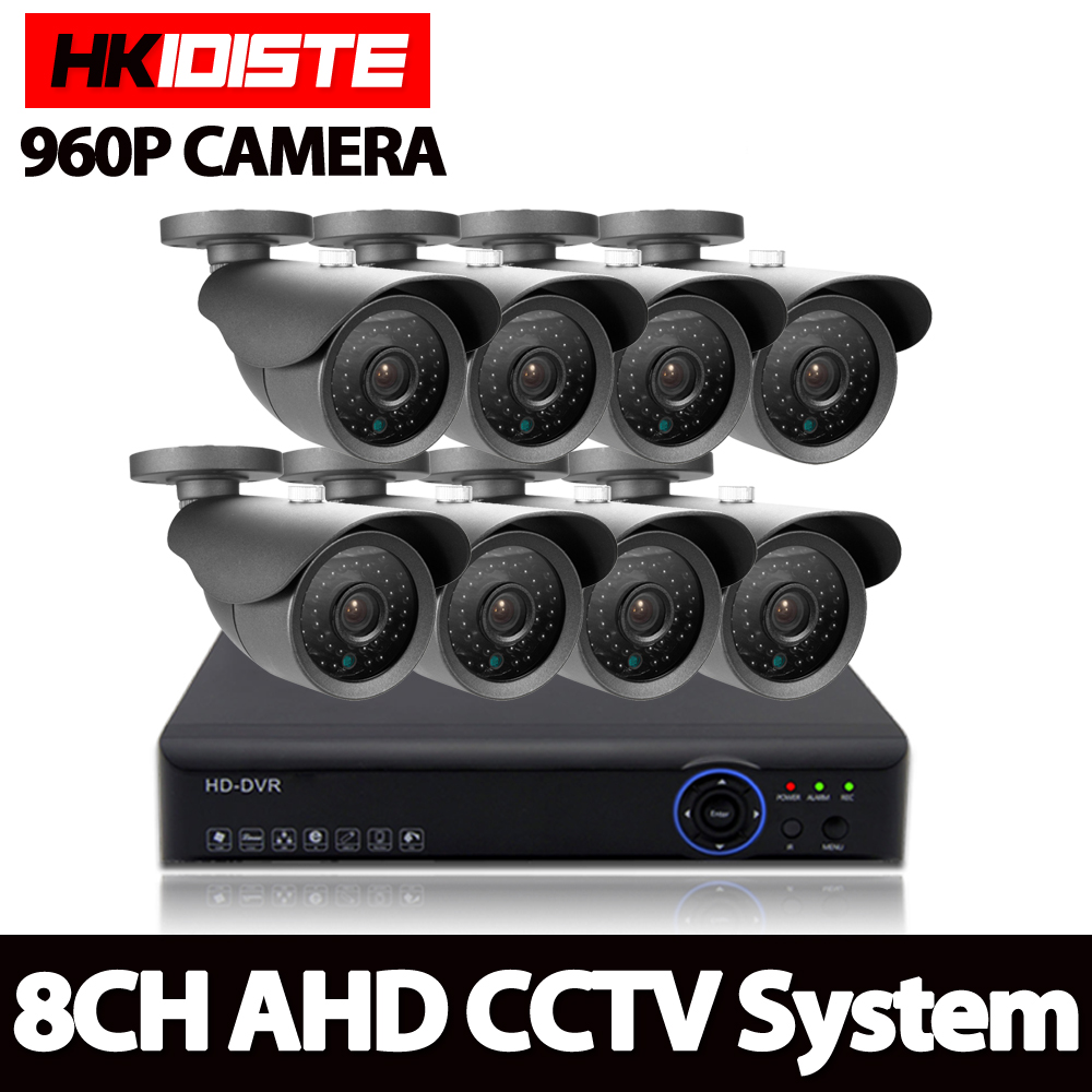 Home 8CH CCTV Security System 8 Channel HDMI 1080P AHD DVR HD 960P 1 3MP Outdoor