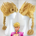 JoJo's Bizarre Adventure Giovanna Giorno Giovana Cosplay Wig Long Straight Heat Resistant Blonde Cos Wigs Free Shipping