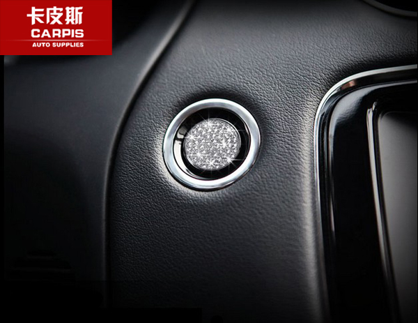 Engine Start Buttons Ring Cover Trim For Land Rover Discovery Sport Evoque Red