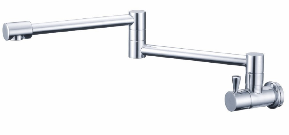 ФОТО Free shipping single cold faucet bathroom basin cold sink water tap tall chrome brass faucet SF411