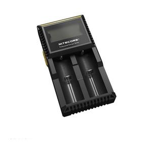 Image 2 - Originale Nitecore D2 Caricabatteria LCD Intelligente di Ricarica per 18650 14500 16340 26650 AA AAA Batterie 12V Caricatore h15