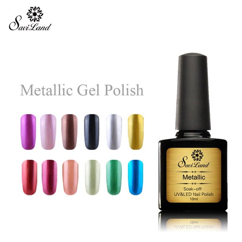 Gel nail polish metallic
