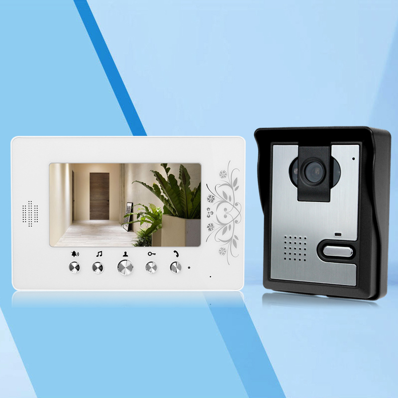 7'' TFT LCD Color Door Phone Video Doorbell Intercom System With Outdoor Doorbell Camera With 25 Kinds Rings Waterproof On Sale hotsale 7inch tft lcd screen video door phone intercom system matal outdoor unit doorbell with night vision one to one system