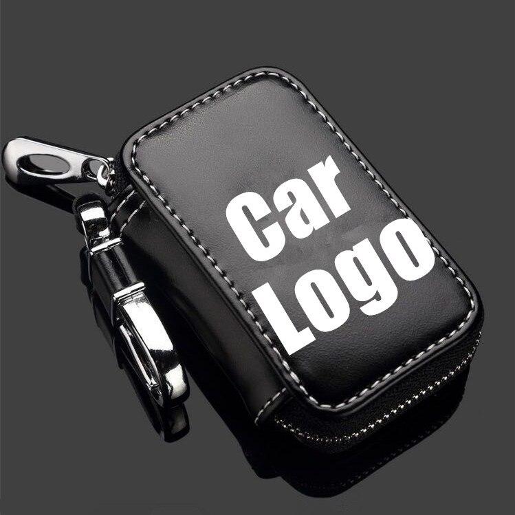 Honda CR-V Honda Carbon Fiber Texture Black Leather Strap Key Chain Black iPick Image