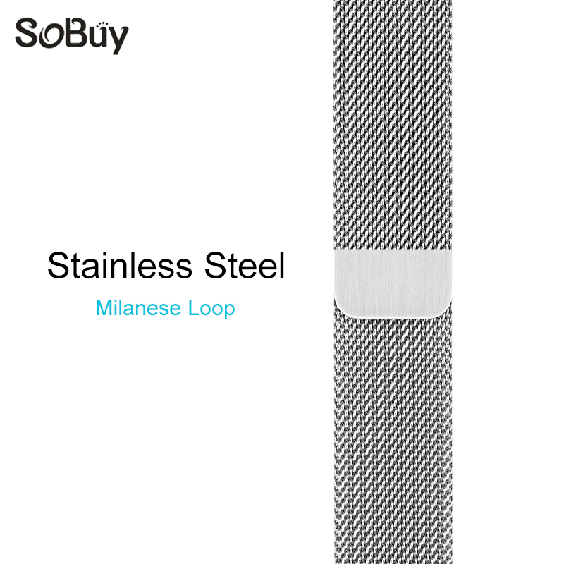 So buy for apple watch series 321 stainless steel band 42mm Milanese loop watchbands 38mm Milan Nice bracelet iwatch wrist strap
