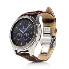 Genuine Leather Watchband 22mm Quick Release for Samsung Gear S3 Classic Frontier Gear 2 Neo Live Watch Band Wrist Strap стоимость