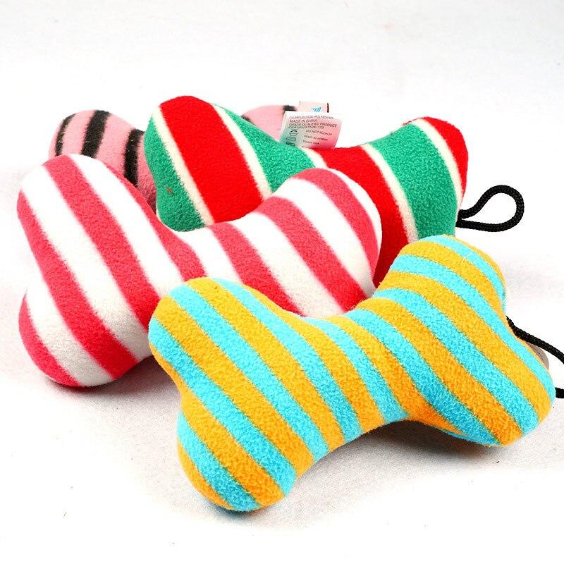 Мода Pet Игрушки для собак, игрушка Пледы звук пищалка хлопок и шерсть игрушка собака кость 2017ing