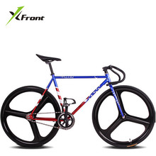 Original X-Front brand fixie Bicycle Fixed gear 46cm 52cm DIY One wheel speed road bike track Flag bicicleta fixie bicycle