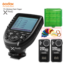 цена Godox XPro-C Flash Trigger Transmitter E-TTL II 2.4G Wireless X System HSS+2pcs XTR-16S Receiver for Canon For VING V860C V850C онлайн в 2017 году