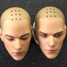 Two Versions 1/6 The Holy Monk Head Sculpts Open Eyes Closed for 12 Bodies