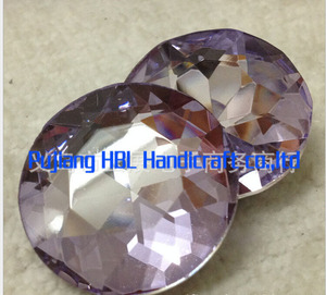 44pcs/pack 27mm Lilac Colour Crystal Garment Accessary Fancy Stones For Clothes Sew ON Stone