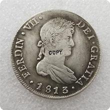 1813 espanhol 8 reais copiar moedas comemorativas-réplica moedas medalhas moedas colecionáveis