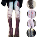 New Cartoon Cute Women Tattoo Tights Seamless Stockings Printing Pantyhose Students Girls Fashion White FHJ241