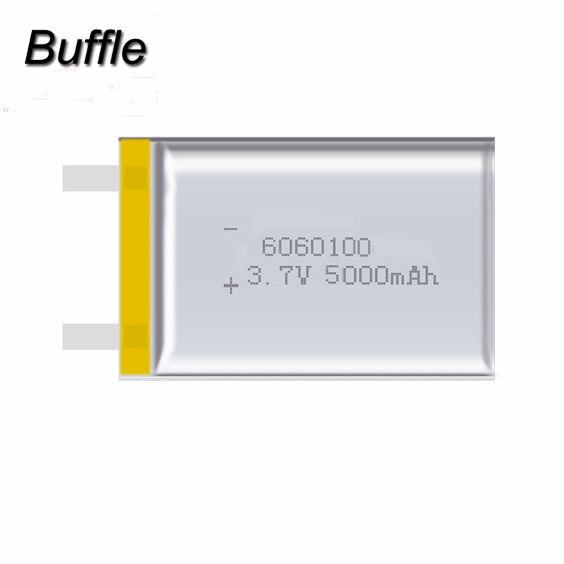 2pcs/lot 5000mAh Li-polymer Rechargeable Batteries 3.7V 6060100 Lithium Polymer Battery For Digital Products