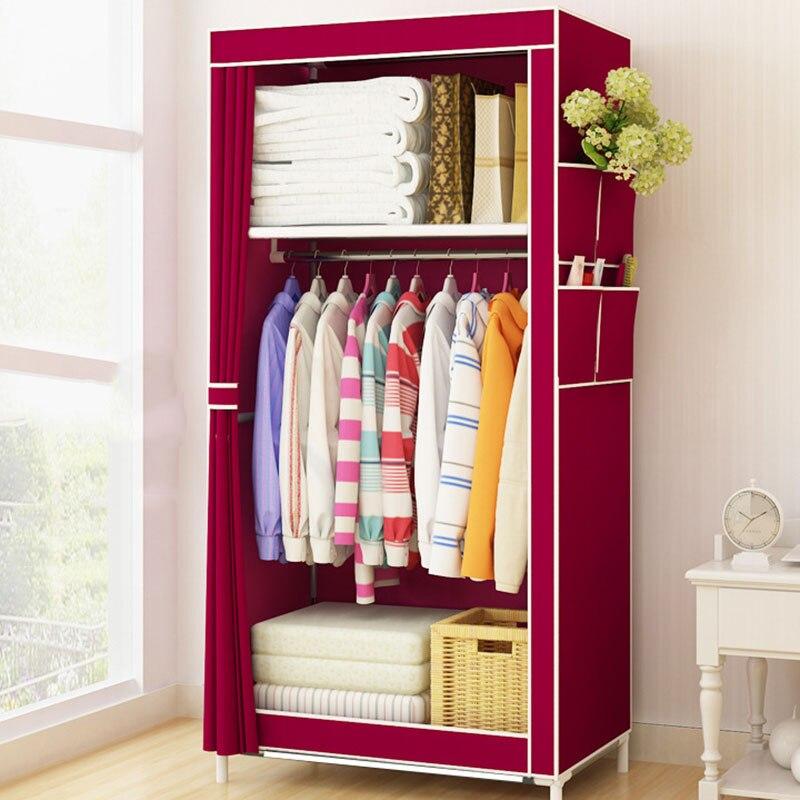 Armoire en tissu minimaliste étudiant dortoir simple petite armoire en tissu pliant vêtements armoire de rangement meubles de maison placard