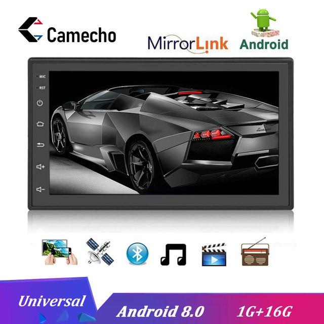 """Camecho 2 Din 7 """"Android navegación GPS Autoradio coche radio Multimedia reproductor de pantalla táctil Bluetooth FM WIFI Auto Audio estéreo"""