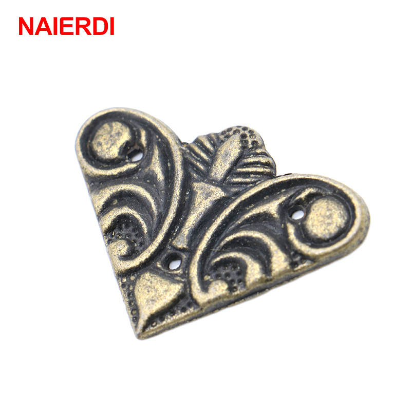 10PCS NAIERDI 30mmx30mm Jewelry Box Book Scrapbook Album Antique Frame Accessories Notebook Menus Corner Decorative Protector 10pcs naierdi 30mmx30mm jewelry box book scrapbook album antique frame accessories notebook menus corner decorative protector