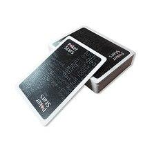 Baccarat Texas Hold'em пластиковые игральные карты водонепроницаемый глазурь Poker Card Pokerstar настольная игра 2,48*3,46 дюймов