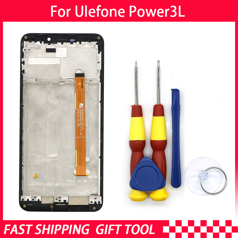 New original For Ulefone Power 3L Touch Screen +LCD Display  Digitizer Assembly+ Frame Replacement Parts+Disassemble ToolNew original For Ulefone Power 3L Touch Screen +LCD Display  Digitizer Assembly+ Frame Replacement Parts+Disassemble Tool