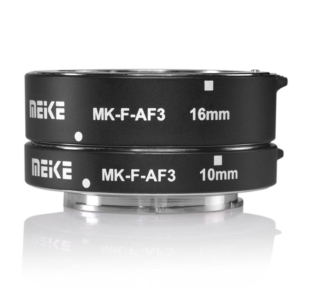 Meike MK-F-AF3 Métal Auto Focus Ring Macro Extension Tube 10mm 16mm pour FUJIFILM XPro2/XT1/XA2/XE2/XE2s/X70/XE1/X30/X70/XM1/XA1/XPro1