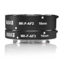 Meike MK-F-AF3 metal auto focus macro Extension tube 10mm 16mm para Fujifilm XPro2/XT1/XA2/ XE2/XE2s/X70/XE1/X30/X70/XM1/XA1/XPro1