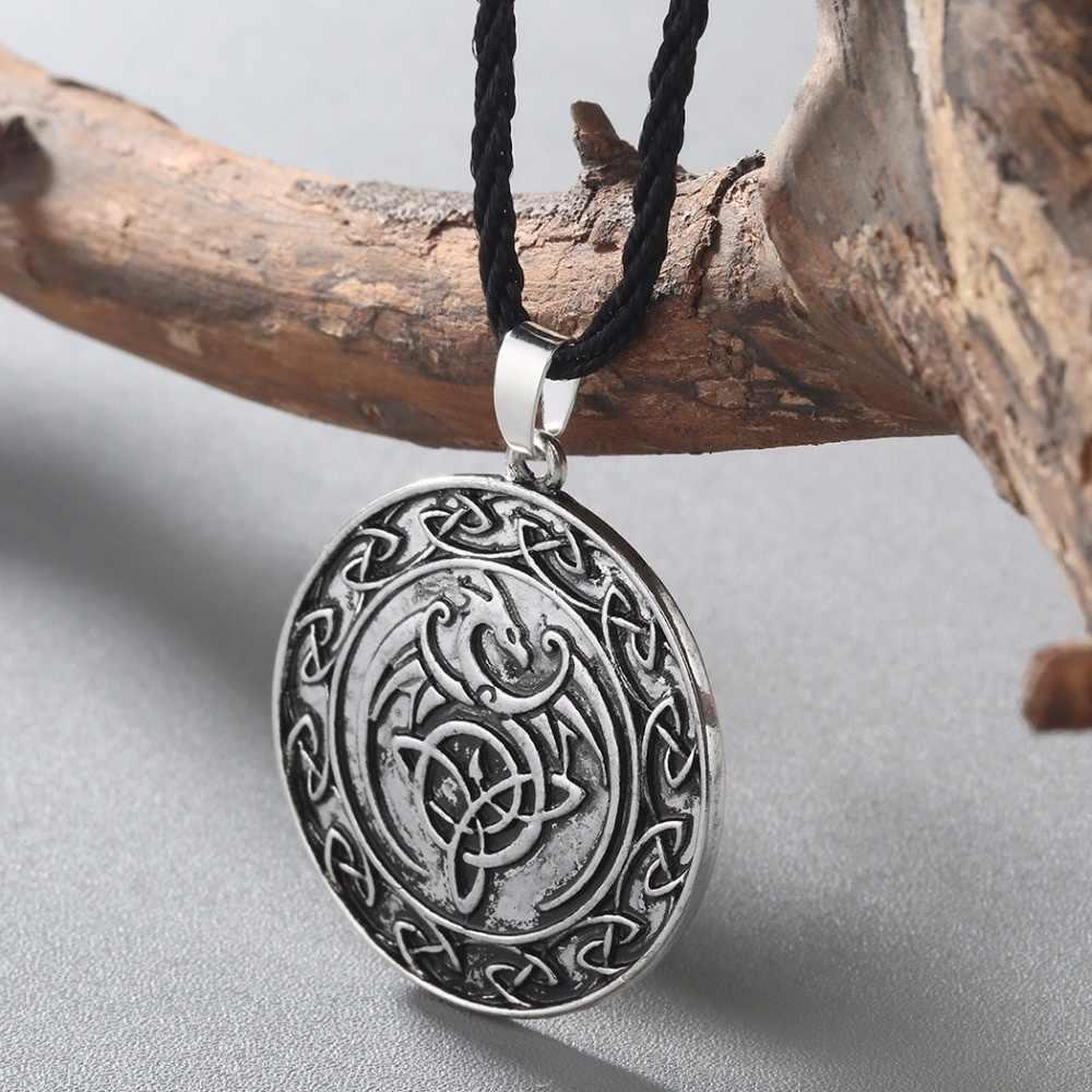Chandler Viking Valknut naszyjnik dla kobiet mężczyzn Steampunk Punk Illuminati Pagan religijne tybetański Amulet egipski biżuteria