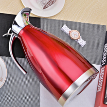 Large Coffee Carafe Double Wall Stainless Steel Thermal Bottle Flask Tea Pot Jug With Lid Vacuum Insulated Thermos
